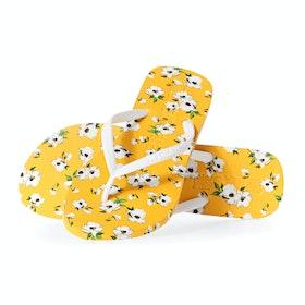 Superdry Super Sleek Aop Flip Flop Womens Sandals - Yellow Aop