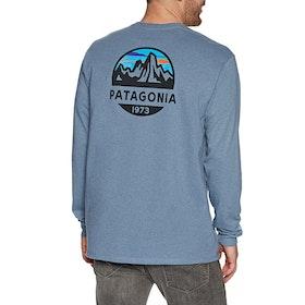 Patagonia Fitz Roy Scope Responsibili Tee T-Shirt Lange Mouwen - Pigeon Blue