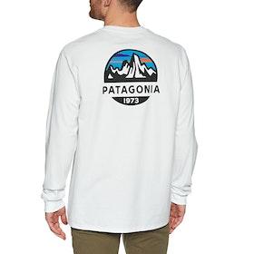 Patagonia Fitz Roy Scope Responsibili Tee T-Shirt Lange Mouwen - White
