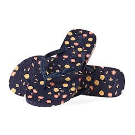 Superdry Super Sleek Aop Flip Flop Womens Sandals - Navy Print