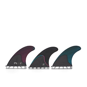 Futures Mayhem Small Honeycomb/carbon Fin - Pink/teal