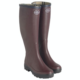 Le Chameau Giverny Jersey Lined Wellingtons - Cherry