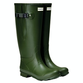 Hunter Norris Wide Fit Wellington Boots - Vintage Green