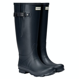 Hunter Norris Wide Fit Wellington Boots - Navy
