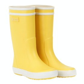 Aigle Lolly Pop Girls Wellingtons - Yellow White