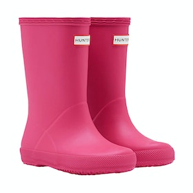 Hunter First Classic Childrens Wellington Boots - Bright Pink