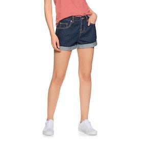 Superdry Steph Boyfriend Womens Shorts - Denim Indigo Rinse