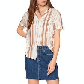 Superdry Arizona Vintage Short Sleeve Shirt - Orange Stripe