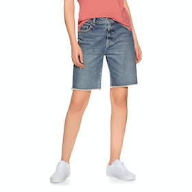 Superdry Bermuda Boy Womens Shorts - Mid Indigo Authentic