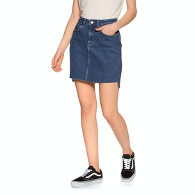 Superdry Denim Mini Skirt - Dark Indigo Aged
