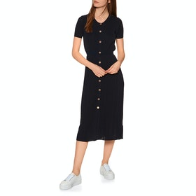 Superdry Tilly Knit Midi Dress - Atlantic Navy