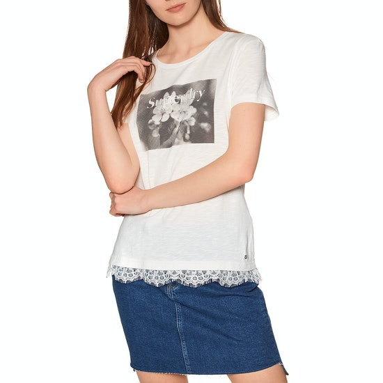 Superdry Tilly Lace Graphic Short Sleeve T-Shirt