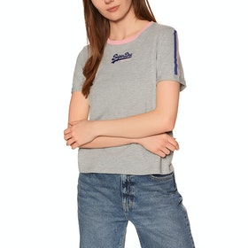Superdry Vintage Logo Micro Boxy Short Sleeve T-Shirt - Grey Marl