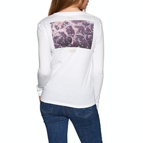 Element National Geographic Womens Long Sleeve T-Shirt - White