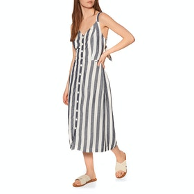 Superdry Eden Linen Dress - Blue Stripe