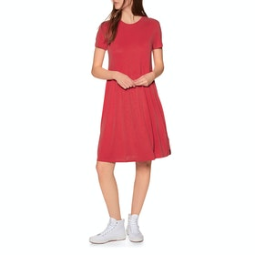 Superdry Smocked Tshirt Dress - Apple Red