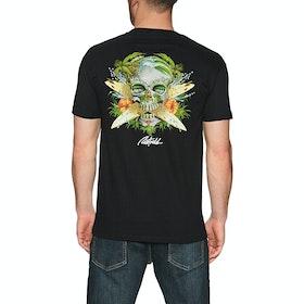 T-Shirt à Manche Courte Rietveld Surf Skull - Black