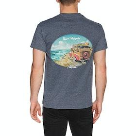 T-Shirt à Manche Courte Rietveld Surf Trippin - Heather Navy
