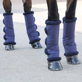 Shires Short Fleece Lined Travel Boots - Navy
