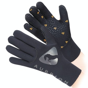Shires Aubrion Neoprene Yard Gloves - Black