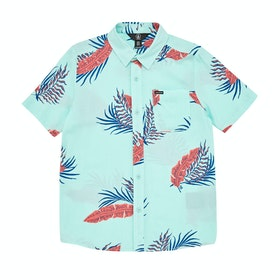 Volcom Bermuda Boys Short Sleeve T-Shirt - Resin Blue