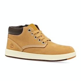 Stivali Bambini Timberland Davis Square Leather Chukker - Wheat Nubuck