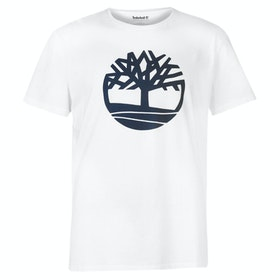 T-Shirt à Manche Courte Timberland Kennebec River Brand Tree - White