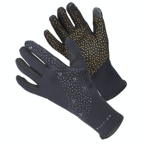 Shires Aubrion Neoprene Super Grip Riding Gloves - Black