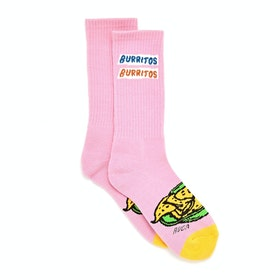 RVCA Hot Fudge Crew Socks - Pink