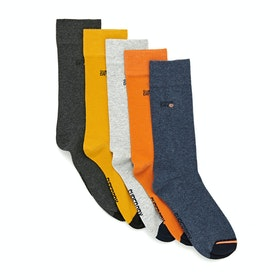 Superdry City Sock 5 Pack Socks - Orange Multipack