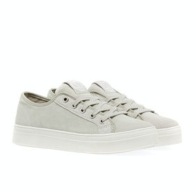 Superdry Flatform Sleek Womens Shoes - Silver Cloud