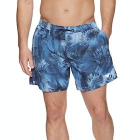 Pantaloncini da Bagno Emporio Armani 1 - Stampa Palme Blue