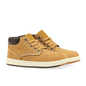 Timberland Davis Square Leather Chukker Kinder Stiefel - Wheat Nubuck