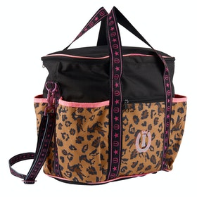 Imperial Riding Beautiful Wild Grooming Bag - Black Leopard Print
