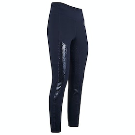 Imperial Riding Hi Glam Silicone Full Seat Ladies Riding Tights - Navy