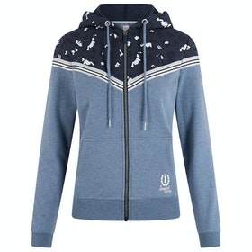 Imperial Riding Let's Go Ladies Pullover Hoody - Denim Blue Melange