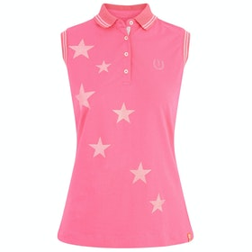 Imperial Riding Stardust Sleeveless Ladies Polo Shirt - Flash Pink