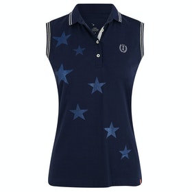 Imperial Riding Stardust Sleeveless Dames Poloshirt - Navy