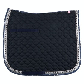 Imperial Riding Wild Verona Dressage Saddlepads - Black Leopard Print