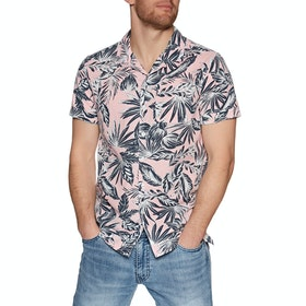 Superdry Edit Cabana Short Sleeve Shirt - Pink Palm