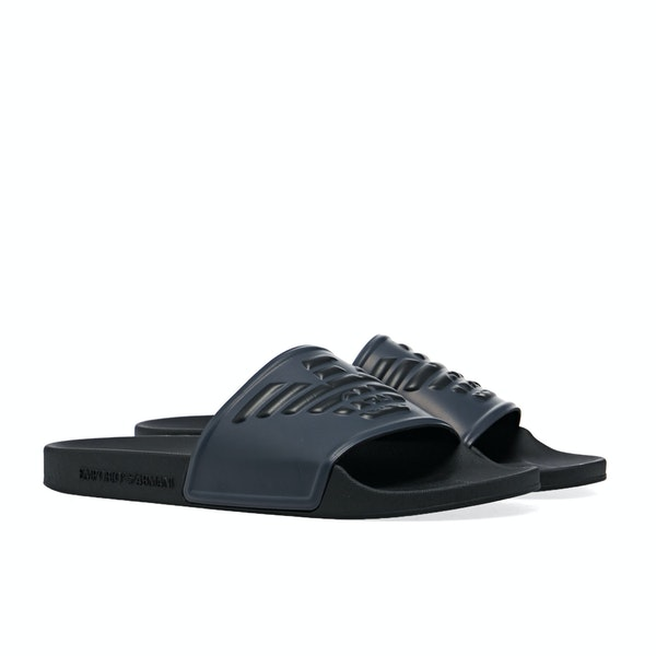 Emporio Armani Pu And Pvc Sliders