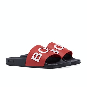 BOSS Solar Slider Men's Slippers - Navy/red