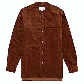 Still By Hand Corduroy Pocket Shirt - Brick