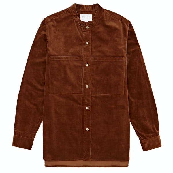 Still By Hand Corduroy Pocket Shirt