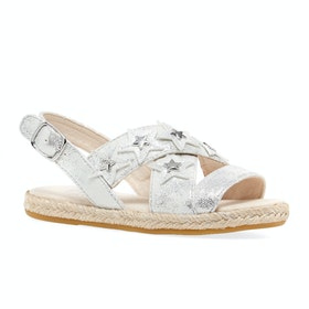 UGG Allairey Stars Girl's Sandals - Silver
