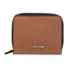 Calvin Klein Sided Ziparound Md Flap Women's Purse - Cuoio