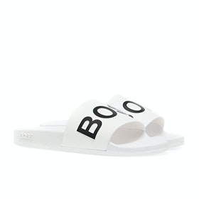 Ciabatte Uomo BOSS Solar Slider - White/black