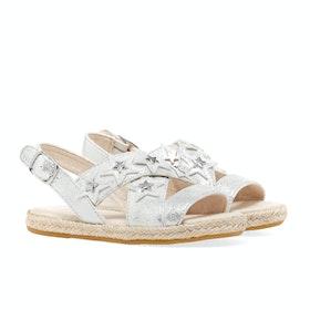 UGG Allairey Stars Girls Sandals - Silver