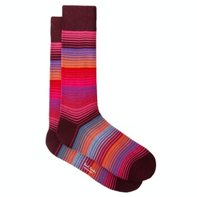 Calcetines Paul Smith Lenzo Stripe - Burgundy