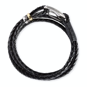 Paul Smith Leather Wrap Bracelet - Black